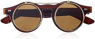 クラシックスチームパンクゴスメガネゴーグルラウンドフリップアップサングラスレトロヴィンテージファッションアクセサリーファッショントレンドラウンドメガネ