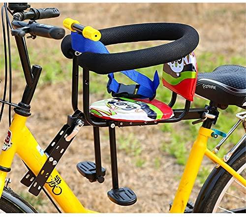 Asiento para niños para el montaje frontal de la bicicleta Desmontaje rápido Asiento de seguridad para la bicicleta Electrombile con apoyabrazos y pedal 60kg rodamiento ( Color : Quick release style )