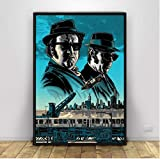 N/S Leinwand Malerei Blues Brothers Poster Tv-Serie Vintage