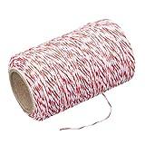 Kitchen Craft KCTWINE Bratenschnur, 60 m (197 Fuß) -Rot/Weiß, Stoff, 4.3 x 9 x 21 cm, 6-Einheiten