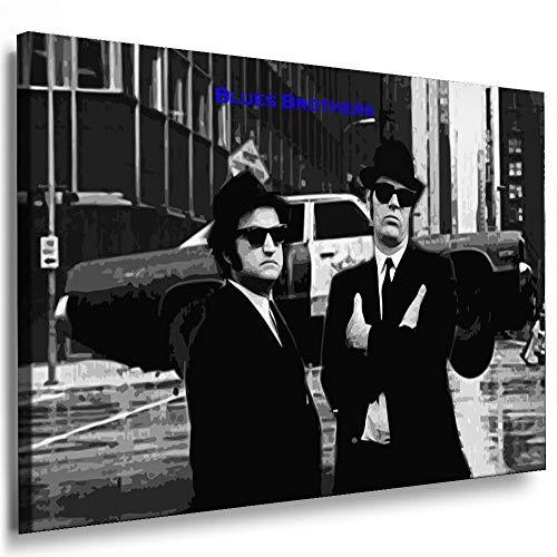 Boikal / Leinwand Bild Blues Brothers Film 1980 Leinwanddruck, Kunstdruck fm11 Wandbild 100 x 70 cm