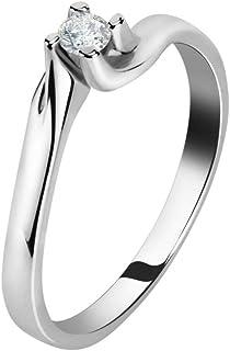 Live Diamond Anello Donna, Collezione LAB GROWN, in Oro bianco 375, diamanti ecologici - LD010030
