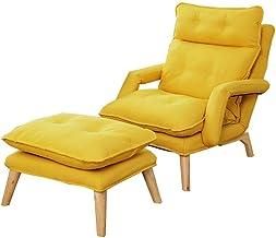AINIYF Folding Lazy Sofa Chair Multi-Function Folding Single Armchair Solid Wood Frame Sponge Filling Bedroom Living Room ...