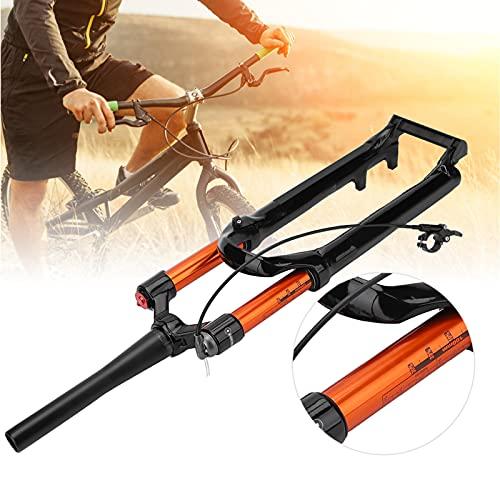 Zhat Horquilla Delantera para Bicicleta de montaña, Horquilla Delantera para Bicicleta, aleación de magnesio antirrayas + Control de Cable de aleación de Aluminio para Bicicleta de montaña