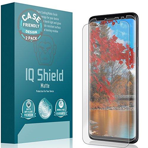 IQ Shield Matte Screen Protector Compatible with Galaxy S9 (Case Friendly)(2-Pack) Anti-Glare Anti-Bubble Film