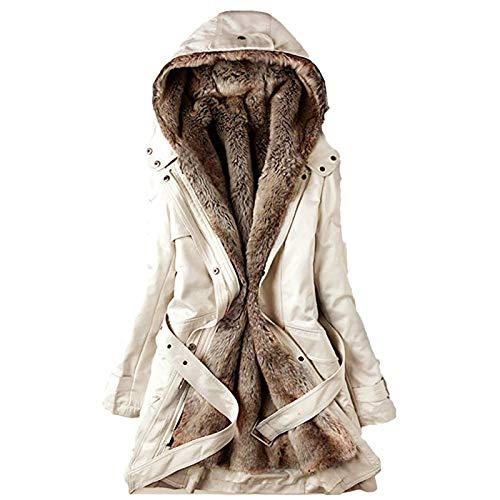 cappotto donna maculato 757 Cappotto Donna Elegante Pelliccia Faux Giacca Donna Invernale Lungo Parka Invernale da Donna
