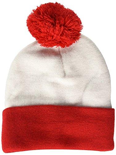 Beechfield Snowstar - Gorro Unisex (Talla única), Color Rojo y Crema
