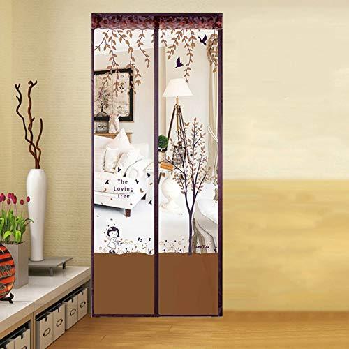 Preisvergleich Produktbild JYXJJKK Stille-verschlüsselung moskito Vorhang, Magnetisch weich garn partition Vorhang-Kaffee Farbe 85x200cm(33x79inch)