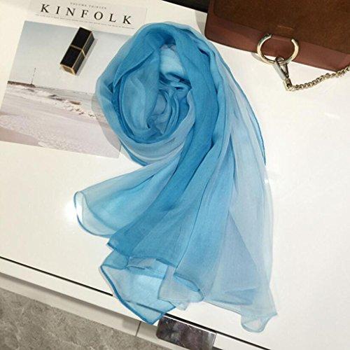 YQQ-écharpe Femme Couleur Unie 100% Mûre Soie Rectangulaire Châle 145 * 180 Cm (Color : L)