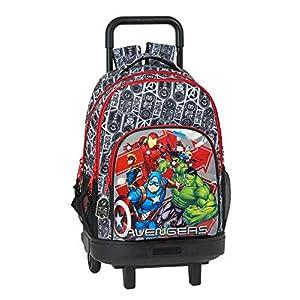 517wpn8DTYL. SS300  - Safta Mochila Escolar con Carro Incluido y Espalada Acolchada de Avengers, Heroes