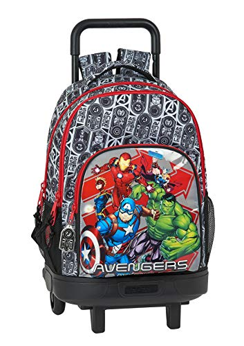Safta Mochila Escolar con Carro Incluido y Espalada Acolchada de Avengers, Heroes