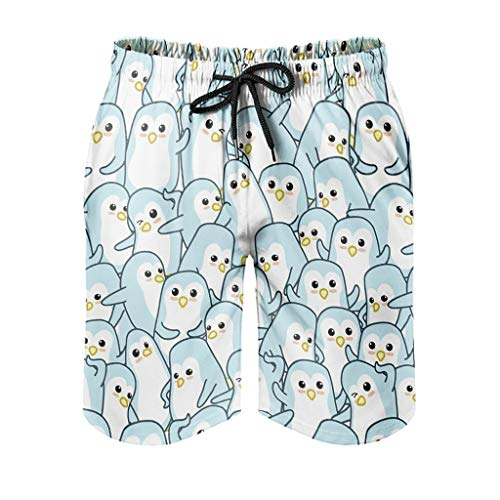 Ktewqmp Zomerzwembroek, pinguïn, dier voor mannen, zwembroek, zwembroek voor heren, met zakken