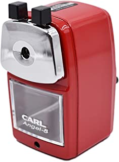 CARL Angel-5 Pencil Sharpener, Red