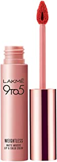 Lakme 9 to 5 Weightless Matte Mouse Lip & Cheek Color, Coral Cushion 9 g