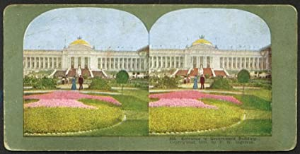 Government Building St Louis World's Fair stereoview 1904