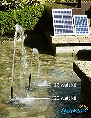 Solariver Solar Water Pump Kit Submersible Pump with Adjustable Flow