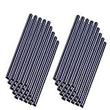 MCTECH 50 Stück Universal Befestigungsclips Klemmschienen für PVC Sichtschutzstreifen – Anthrazit (50 Stück)