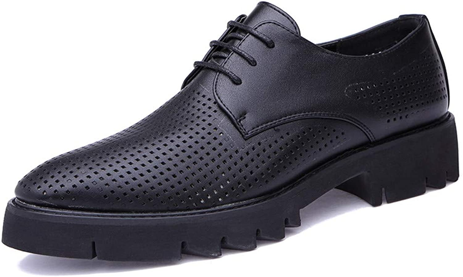 Uniform shoes shoes Men's Business Oxford Summer New Breathable Hollow Classic Outsole Formal shoes Leather shoes