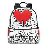 Keith Haring リュック バック ビジネスリュック 大容量 バックパック キッズ バッグ 旅行 入学 かわいい 男女兼用 遠足 お祝い プレゼント