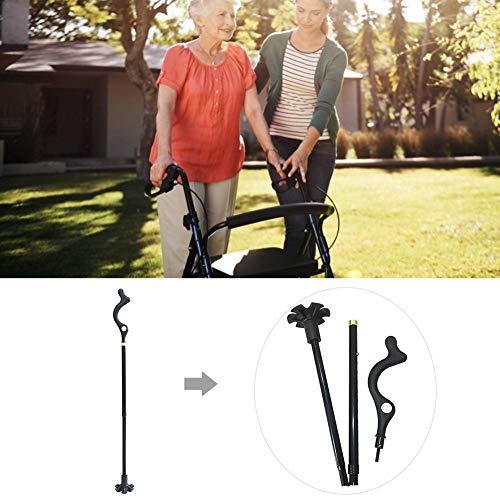 Hook.s Trekkingstock Walking Cane Tragbarer, selbstständiger Handlaufstock mit 360 ° -Einstellung