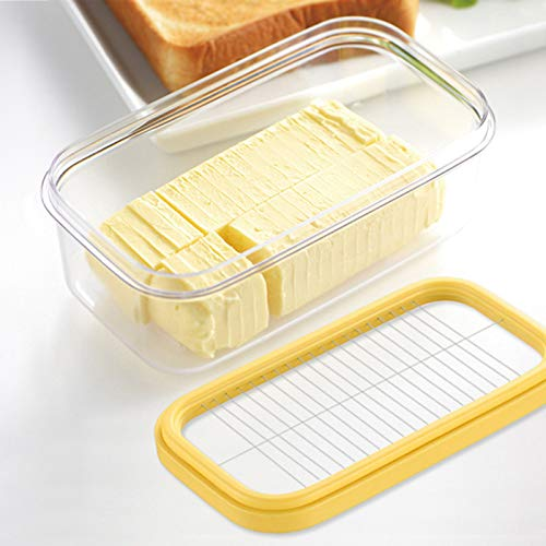 Naroano Butterdose, 2-in-1 Butterschneider Schutzbox, langlebige Aufbewahrungsbox mit Deckel für die Küche