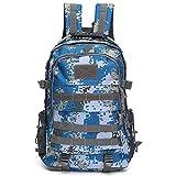 Walker Valentin Mochila IBHT 50L al Aire Libre Morral táctico del Hombro de Nylon Impermeable del Bolso de Deportes Que acampa yendo de Viaje Mochila 1 (Color : Blue Camouflage)