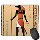 Egyptian Murals Anubis Gaming Mouse Pad Custom Rectangle Mousepad Computer Gaming Mouse Mat Non-Slip Rubber for Pc and Laptop