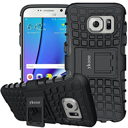 ykooe Handyhülle für Samsung Galaxy S7 Hülle, Silikon Dual Layer Schutzhülle für Samsung S7 Case Hybrid TPU Ständer Galaxy S7
