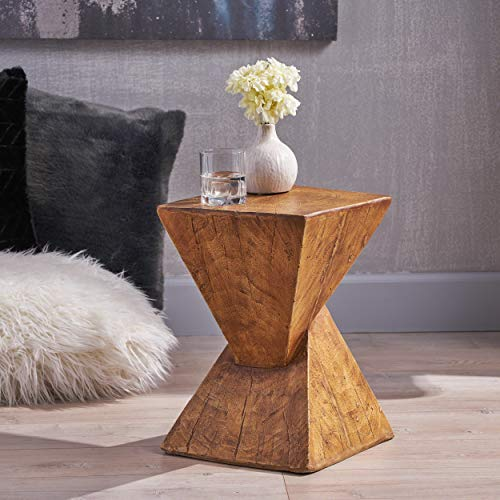 Christopher Knight Home Jerod Light-Weight Concrete Accent Table, Natural