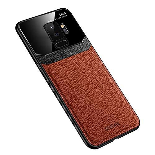 Funda Samsung Galaxy S9 Plus, Carcasa Ultra Delgado De Piel PU y Suave TPU Cover Case Carcasa para Galaxy S9 Plus (Galaxy S9 Plus, Marrón)