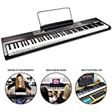 RockJam 88-Key Beginner Digital Piano/Keyboard with Full-Size Semi-Weighted Keys, Power Supply and Built-In