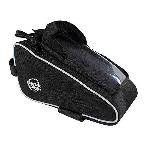 Planet Bike Unisex-Erwachsene Lunch Box Bag and Smart Phone Holder Lunchbox Top Tube Tasche und Smartphone Halter, schwarz, 74 Cubic