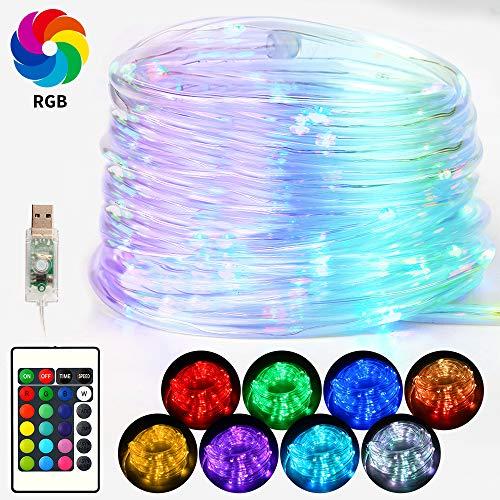 Vivibel Manguera LED 10 M 100 LED Luz Manguera Manguera de