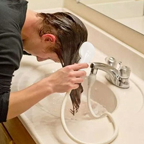Ducha de mano, multifuncional, para perro, mascota, gato, cabezal de ducha con manguera de baño, para fregadero, lavado del pelo de mascota