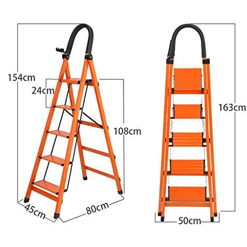 Escalerilla Escalera multiusos Escalera telesc/ópica Taburete con pelda/ños Escalera de 4 pelda/ños Hogar Sostiene hasta 150 kg Peso ligero Escalera plegable de aluminio