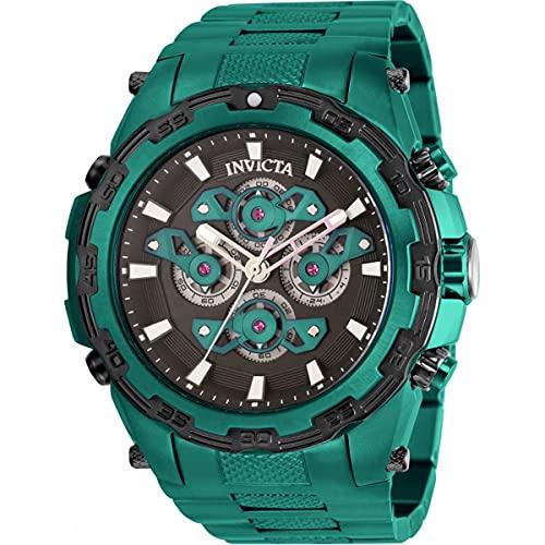 Invicta Especialidad cronógrafo cuarzo negro y verde Dial reloj de hombre 34224