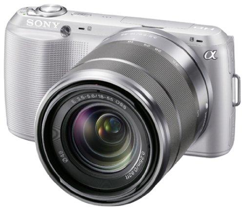 Sony NEX-C3KS Systemkamera (16,2 Megapixel, 7,5 cm (3 Zoll) Display, HD ready, Live View, bildstabilisiert) Kit inkl. 18-55 mm Objektiv silber
