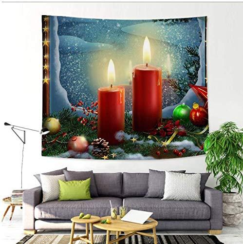 Maison Tenture murale Tapisserie Cheminée Imprimé Mur Ornements Rouge Décoration Murale Tapisserie 150 * 200 Cm