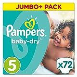 Pampers Baby Dry Windeln, Gr. 5 (11-23 kg), Jumbo Plus Pack, 2er Pack (2 x 72 Stück)