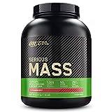 Optimum Nutrition Serious Mass Proteina en Polvo, Mass Gainer Alto en Proteína, con Vitaminas, Creatina y Glutamina, Fresa, 8 Porciones, 2,73kg, Embalaje Puede Variar