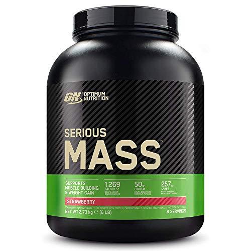 Optimum Nutrition Serious Mass Proteina en Polvo, Mass Gainer Alto en Proteína, con Vitaminas, Creatina y Glutamina, Fresa, 8 Porciones, 2,73kg, Embalaje Puede Variar 🔥