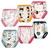 Training Pants Customized 6 Pack Toddler Training Underwear Strong Absorbent for Baby Girls 4T