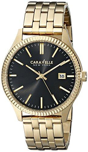 Caravelle New York Men's 44B105 Analog Display Japanese Quartz Yellow Watch