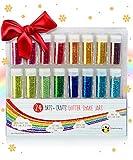 Original Stationery Glitterpulver Set Mit 24 Farben – Feiner Glitzer
