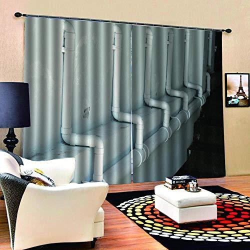 FAIEK 3D Blickdicht Vorhang-Weiße Kunststoffpfeife-Gardine Mit Haken Für Geeignet Für Balkon Schlafzimmer Wohnzimmer Moderne Christmas Dekoration Vorhang-220X215Cm