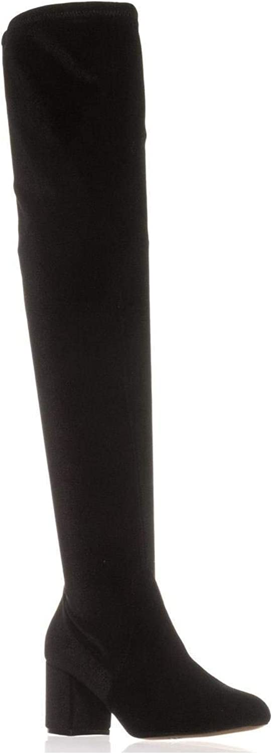 INC International Concepts I35 Rikkie Wide Calf Over-The-Knee Boots, Black