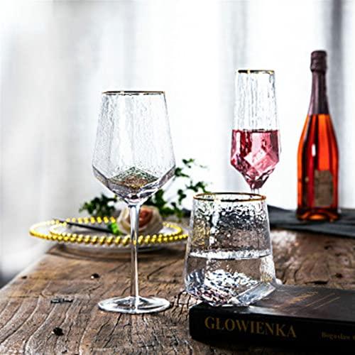 HTRTH Bicchieri di Vetro Creativo Occhiali da Vino Domestico homettato Calice Rosso Vino Bicchiere di Bicchiere di Vetro Champagne Bicchieri da Vino 731 (Color : 550ml)