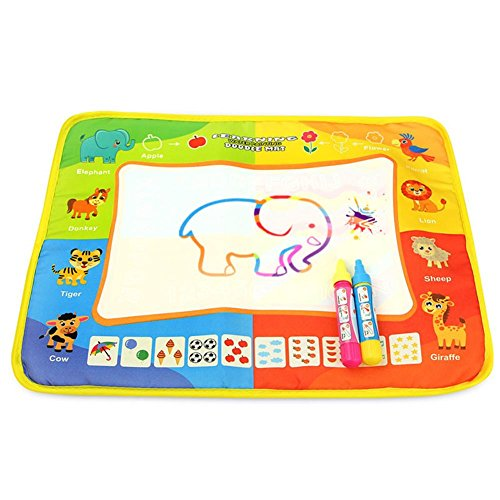 Prettygood7 Magic Eau Tapis de dessin sur toile coloriage Doodle Tableau à peindre enfants jouet Cadeau