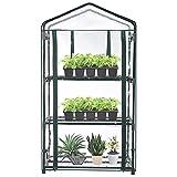 DHHZRKJ Mini Couverture de Serre à 3 Niveaux, sans étagère, Serre de Jardin Transparente pour Enfants à l'intérieur et à l'extérieur avec Porte à glissière Enroulable pour Patio Balcon arrière-Cour