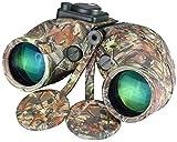 Binoculares telescópicos 7X50 Impermeables y a prueba de golpes con brújula Gafas de visión nocturna HD para uso al aire libre Adecuado para viajar para ver el juego de fútbol de las estrellas,etc.Par